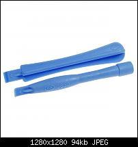 Mit diesen Tools aus Weichplastik lassen sich Ger�te aufhebeln, ohne dass Geh�use, Glas oder empfindliche Komponenten Schaden nehmen. Der Paarsatz...