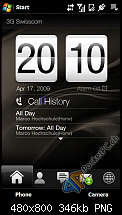 Hier findet ihr ein paar Screenshots vom HTC Touch Diamond 2 und seinem TouchFLO 3D in der Version 2. Die Landscaper Ansicht ist nur �ber Tweaks zur Zeit m�glich (in Beta). Mehr dazu im HTC Touch Diamond 2 Forum von uns