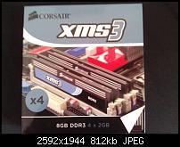 RAM:  Corsair 8GB DDR3 Kit 2000MHz (4x2GB)