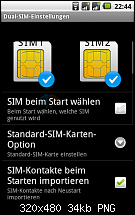 Screenshots vom Android 2.2.1 DualSIM-Handy SP60 GPS.