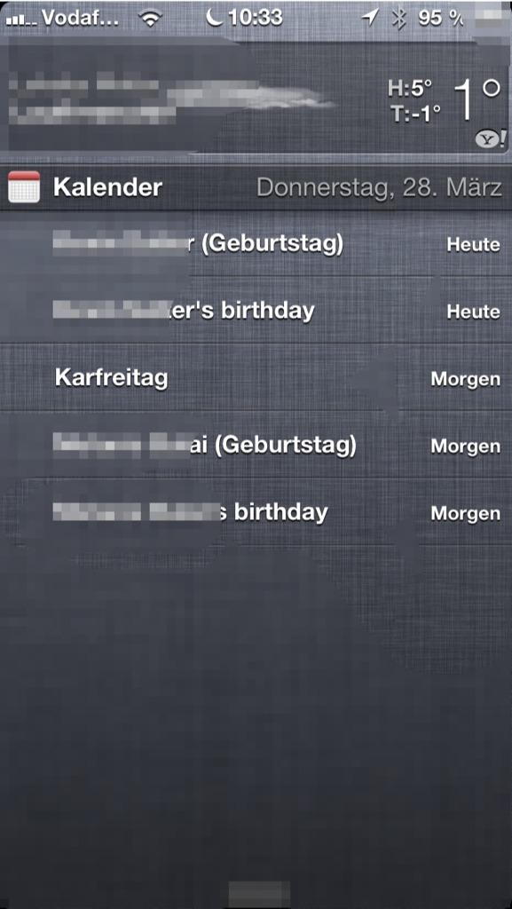 Ios Kalender Feiertage Doppelt