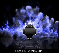 Android Wallpaper Sammlung-android-blue-flames_44.jpg