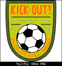 Kick it out! Das Multiplayer Fußball Manager Spiel für Android.-promographic-512x512.png