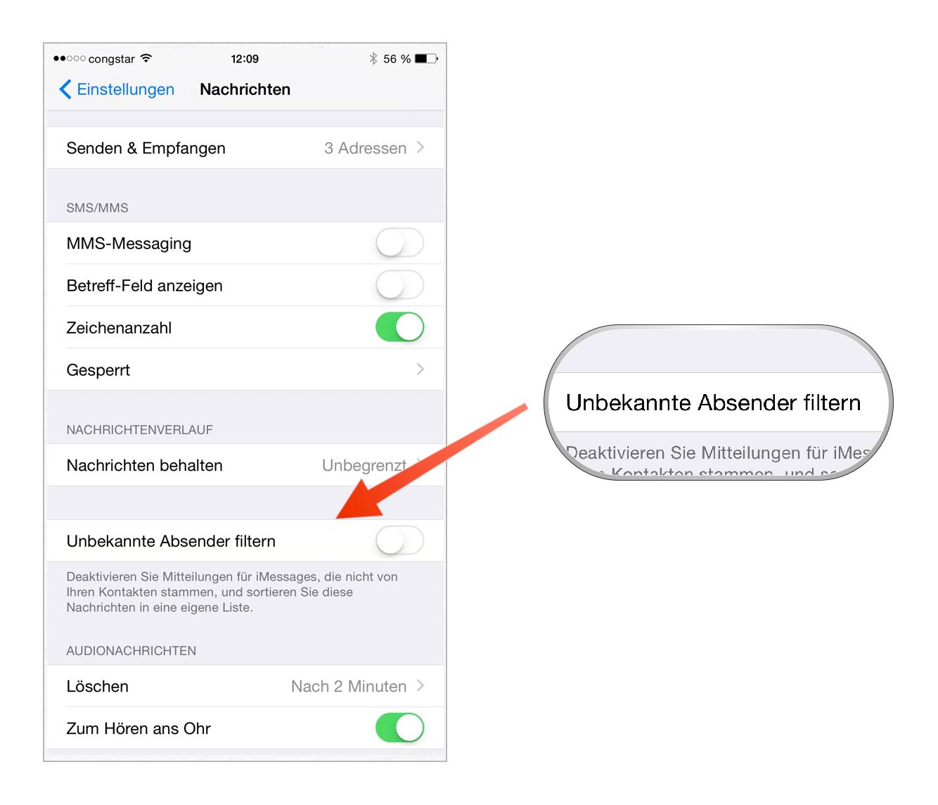 Tutorial: iMessage-Nachrichten als Spam melden-bild-3.png