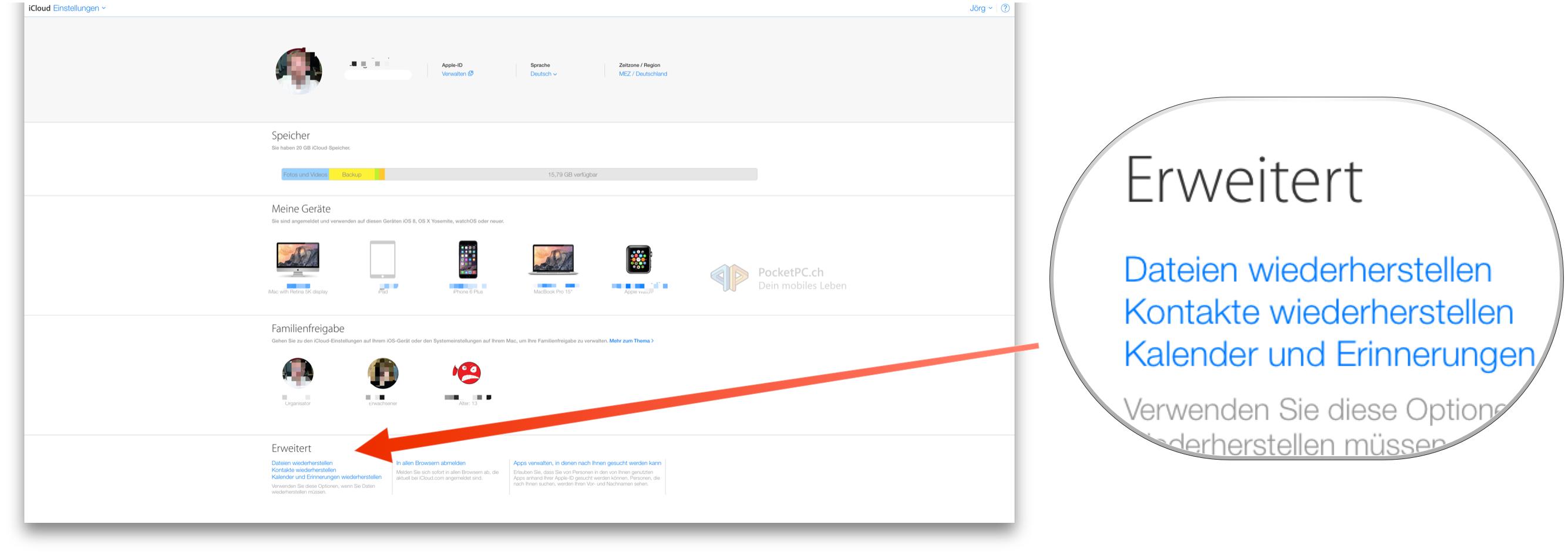 Tutorial: Aus iCloud.com Terminkalender, Adressen und Kontakte wiederherstellen-bild-2.png