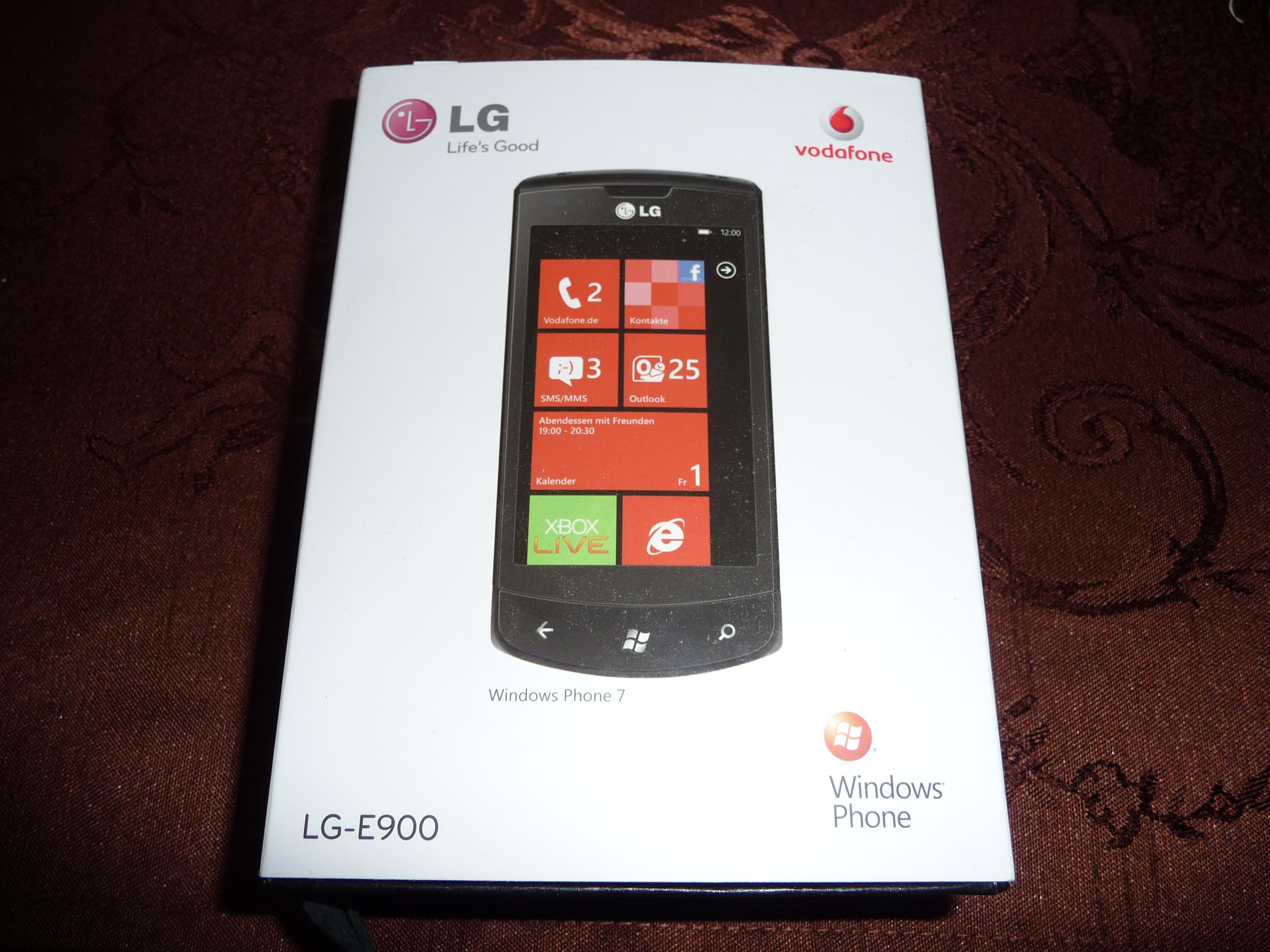 verkaufe lg e900 windows 7 phone neu ovp garantie. Black Bedroom Furniture Sets. Home Design Ideas