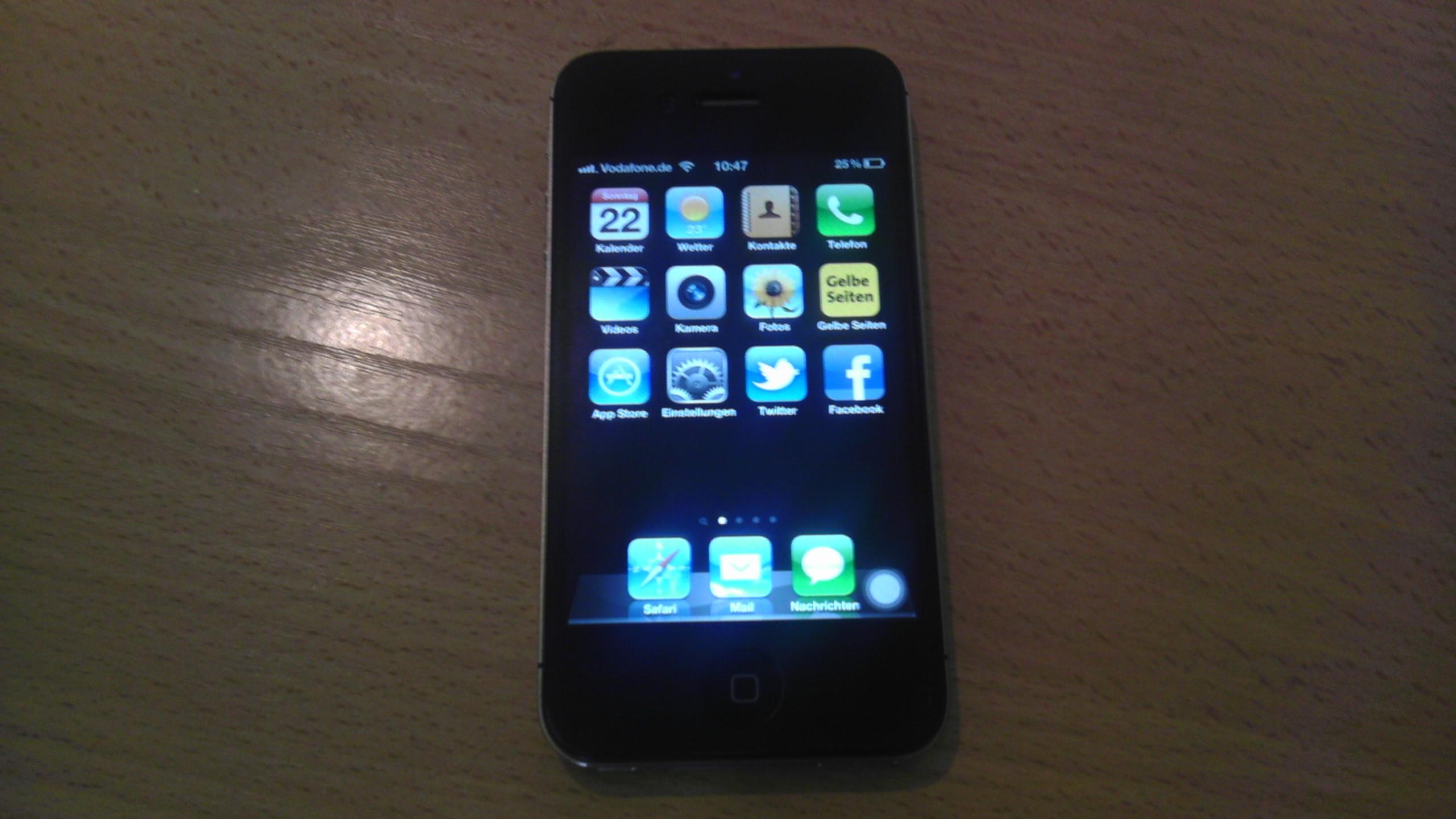 Iphone  Folie Schwarz
