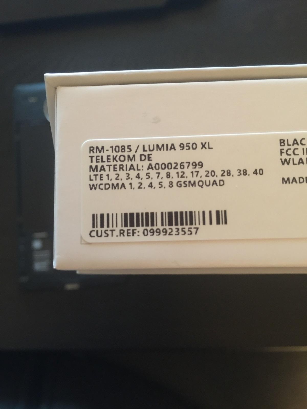 microsoft lumia 950    950 xl  product codes  cv und rm