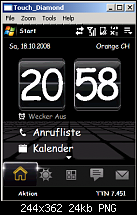 Comm Manager Tab im TouchFLO 3D-startseite.png