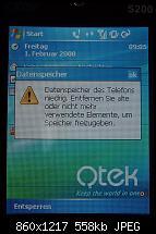 """Qtek S200 Warnung """"Datenspeicher des Telefons niedrig ...""""-qtek-datenspeicher-telefons-niedrig-080201.jpg"""