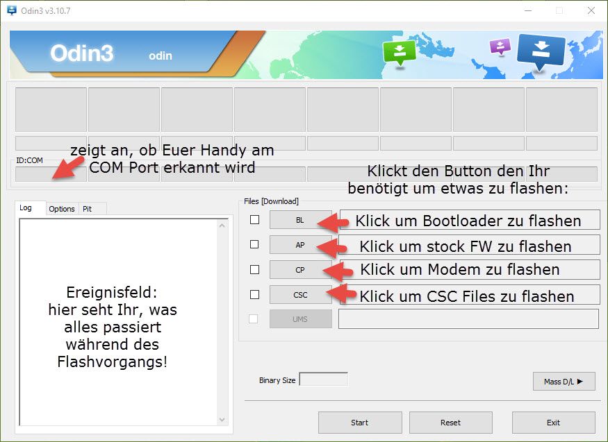 ODIN Flashtool - Versionen und Tips und Tricks