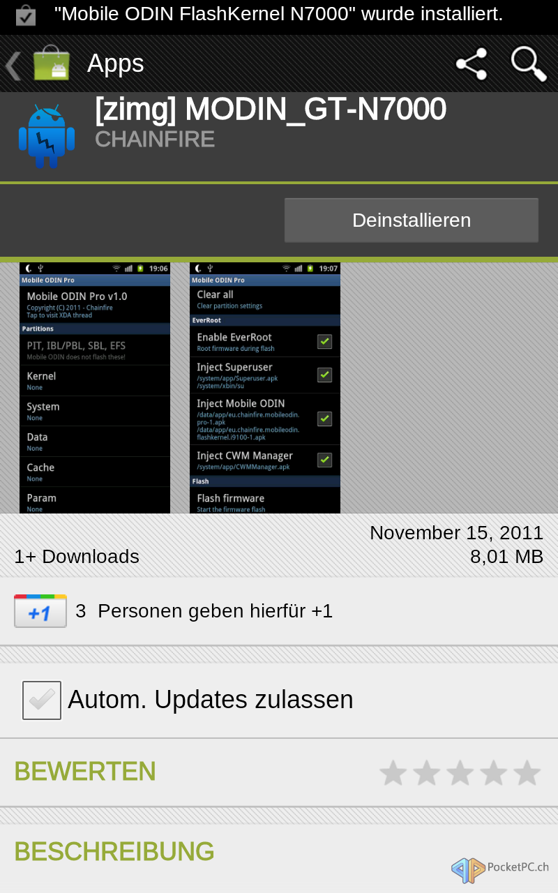 Howto][Android Handy Firmware ROM Modem Kernel per Mobile Odin flashen]