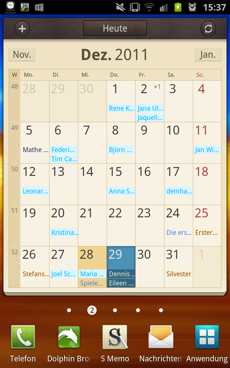 samsung kalender