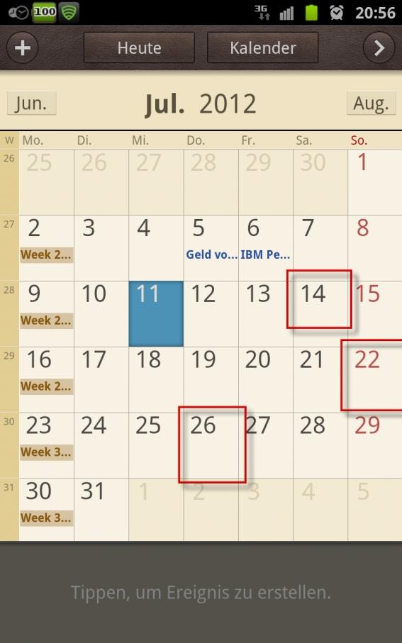 handy kalender