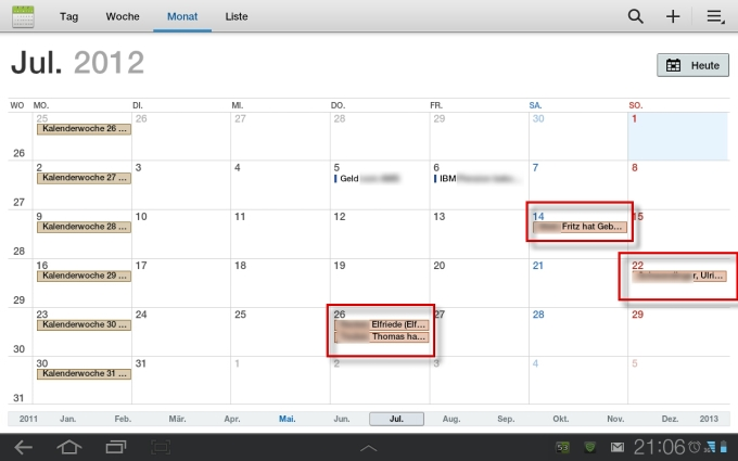 Geburtstage blackberry kalender anzeigen