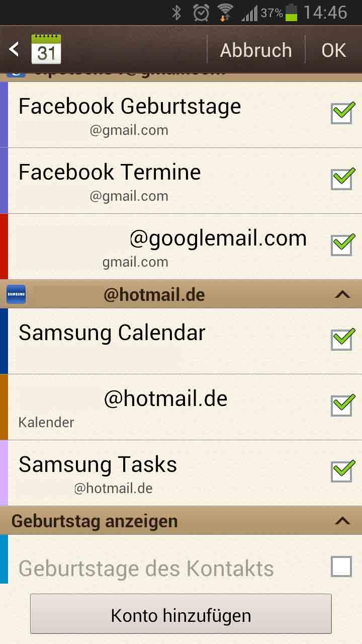 Facebook geburtstag mit kalender synchronisieren