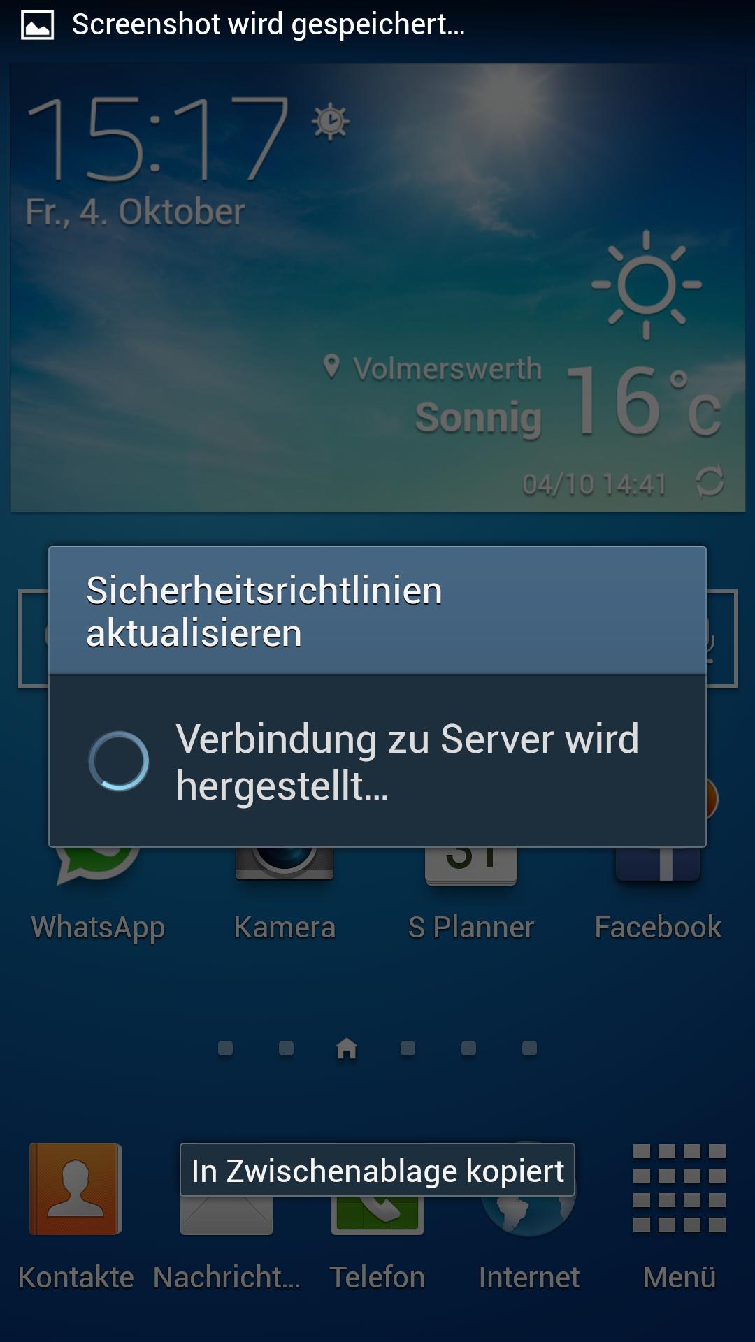 Whatsapp Screenshot Meldung