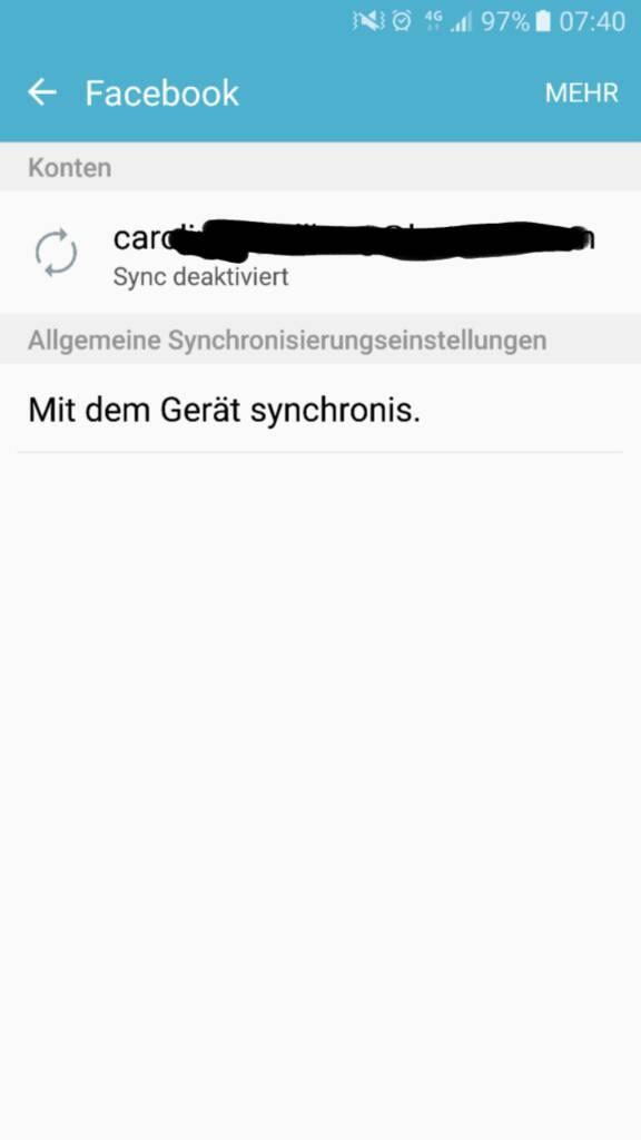 Facebook Sync Kalender und Kontakte funktioniert nicht