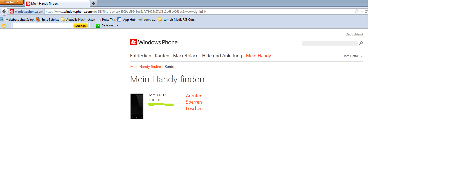 handyortung app windows phone