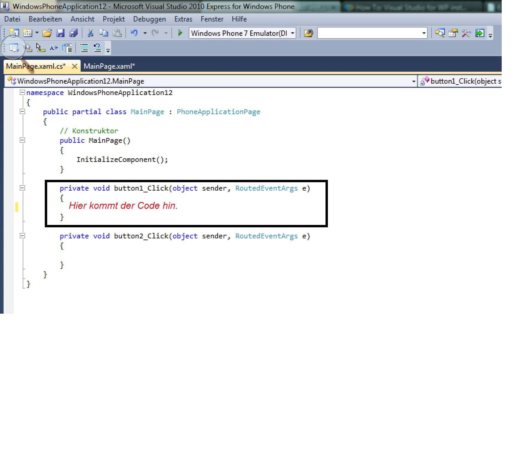 How To: Visual Studio for WP installieren + Erstes Programm ...