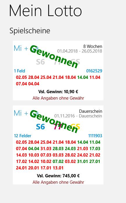 Lotto App Windows Phone