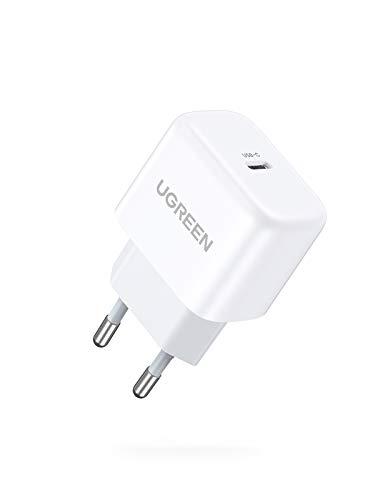 UGREEN 20W USB C Ladegerät USB C Netzteil PD 3.0 Mini USB C Power Adapter PPS Ladestecker kompatibel mit iPhone 12, 12 Pro, 12 Pro Max, 12 Mini, 11Pro, SE 2020, X, iPad Pro 2020, Galaxy S21 S20 usw.