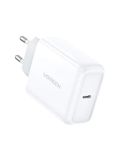 UGREEN USB C Netzteil 45W Power Delivery USB C Ladegerät Schnellladegerät kompatibel mit iPhone 12, 12min, 12 pro, 12 pro Max, 11, 11 pro,Galaxy S20, S20 Ultra, S10, Note 10 Plus, Note 10, A70 usw.