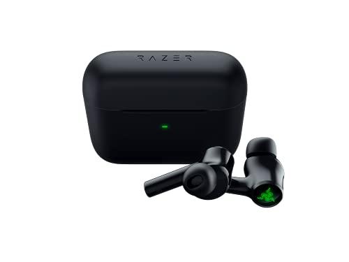 Razer Hammerhead True Wireless (2nd Gen) - Kabellose Earbuds (In-Ear Ohrhörer, Chroma RGB Beleuchtung, aktive Rauschunterdrückung ANC, ultra-niedrige Latenzen, Lade-Etui) Schwarz