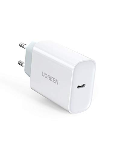 UGREEN USB C Ladegerät 30W Power Delivery Netzteil USB C Schnellladegerät für iPhone 11 X 8 XS XR iPad Pro 2020/2018/2017, iPad Air 3 2019, iPad 7 2019 USB C Fast Charger für MacBook Air, MacBook 12''