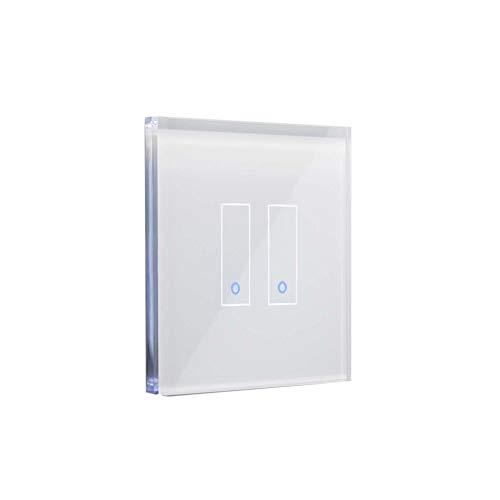 iotty Smart Switch Modell E2 –Doppel-WLAN-Schalter Einfache Installation für die Automatisierung Ihres Hauses – Weiß