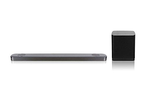LG SJ9 5.1.2 Soundbar (500W, kabelloser Subwoofer, Dolby Atmos) dunkel-silber