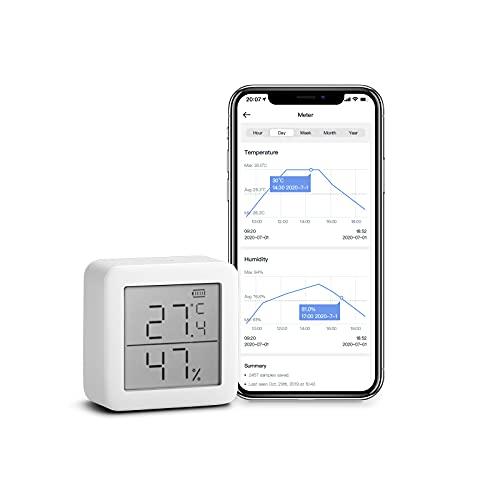 SwitchBot Thermometer Hygrometer Hygrometer Wireless Indoor Feuchtigkeitssensor Add Hub Plus / Mini kompatibel mit Alexa, Google Home, HomePod, IFTTT