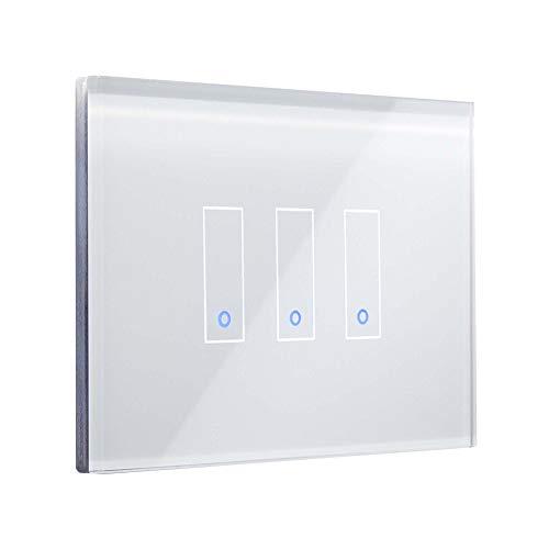 Iotty Smart Switch LSWI33 - Smart Home Beleuchtungssteuerung (Verkabelt & Kabellos, WLAN, Weiß, Wand, Berührung, Innenraum)