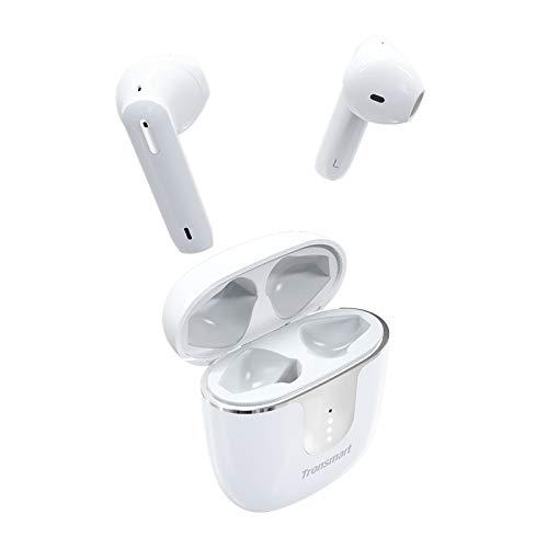 Tronsmart Onyx Ace Bluetooth 5.0 Kopfhörer mit 4 Mikrofonen, Wireless Ohrhörer mit Rauschunterdrückung, Qualcomm aptX Audio, 24-Stunden-Spielzeit, Touch-Steuerung und Sprachassistent-Weiß