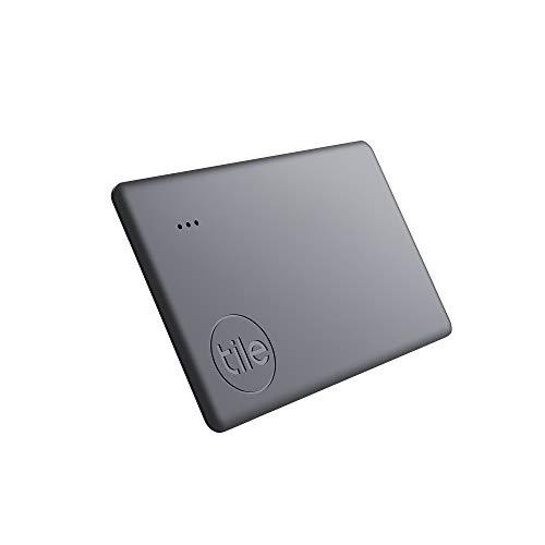 Tile Slim (2020) Bluetooth Schlüsselfinder, 1er Pack, 60m Reichweite, bis zu 3 Jahre Batterielaufzeit, inkl. Community Suchfunktion, iOS und Android App, kompatibel mit Alexa und Google Home; schwarz