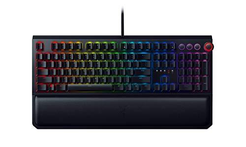 Razer BlackWidow Elite - Premium Mechanical Full-Size Gaming Keyboard (Tastatur mit Razer Green Switches (Taktil & Klickend),Handballenauflage,RGB Chroma Beleuchtung) DE-Layout