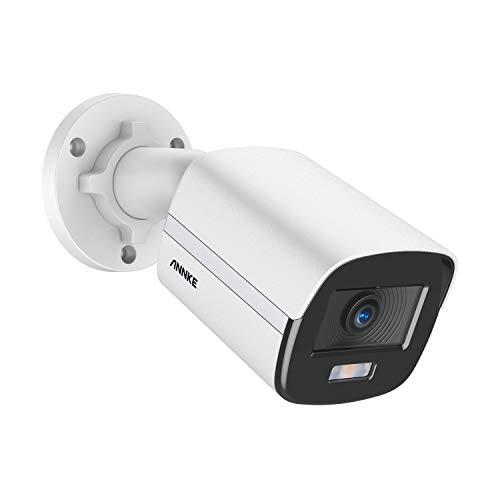 ANNKE NightChroma 0.001 Lux 4MP PoE IP-Überwachungskamera mit ACE Echtfarben-Nachtsichtgerät, PoE IP Kamera unterstützt H.265+ -Videoformat, Motion Detection-Warnungen ANNKE NC400