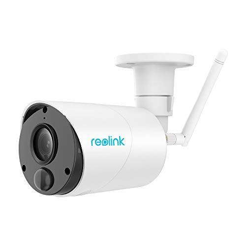 Reolink Überwachungskamera Argus Eco WLAN IP Kamera mit Akku für Außen, kabellos, 1080p HD, mit SD-Kartenslot, PIR-Bewegungsmelder, 2,4Ghz WLAN, IR-Nachtsicht, 2-Wege-Audio, 2019 Version