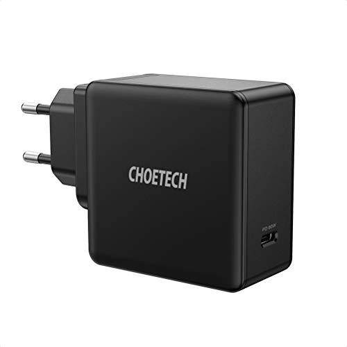 CHOETECH PD 60W USB C Ladegerät mit Power Delivery 3.0 Schnellladegerät Typ C für MacBook Pro/Air,iPad Pro,iPhone 11/11Pro Max,Galaxy Note10/9/S20/S10,Dell XPS,Nintendo Switch,Huawei und mehr
