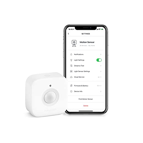 SwitchBot Smart Bewegungs-Türsensor, drahtloses Sicherheitssystem für zu Hause, PIR-Bewegungsmelder, fügen Sie den SwitchBot Hub Mini hinzu, kompatibel mit Alexa