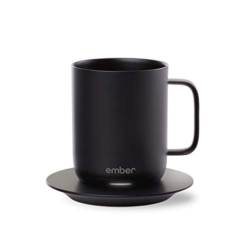 Ember Technologies Smarte Kaffeetasse, Temperatur, 1 Std. Batterielaufzeit, App-gesteuerte Kaffeetasse, Keramik, Schwarz, 284 ml
