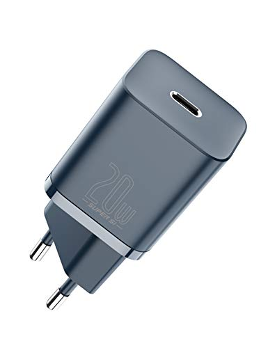 Baseus 20W USB C Ladegerät, Power Delivery 3.0 iPhone Schnellladegerät, USB-C Netzteil, Reisefreundlicher Adapter für iPhone 12/11/ Mini/Pro Max, Galaxy, iPad Pro usw. - Blau