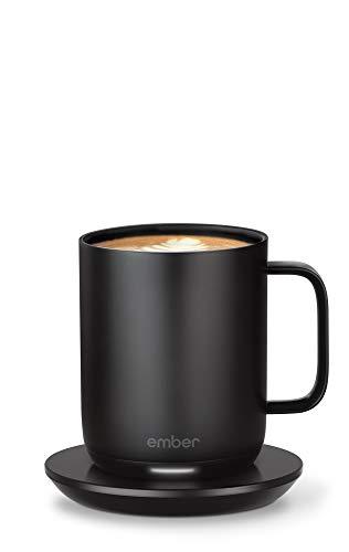 Ember Smart Mug 2 Thermobecher, 284 ml, Schwarz, 1,5 Stunden Akkulaufzeit, App-gesteuerter beheizter Kaffeebecher, verbessertes Design