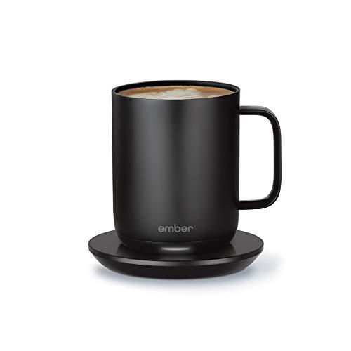 Ember Temperature Control Smart Mug 2, 284 ml, schwarz, 1,5 Stunden Akkulaufzeit – App-gesteuerte beheizte Kaffeetasse – verbessertes Design schwarz