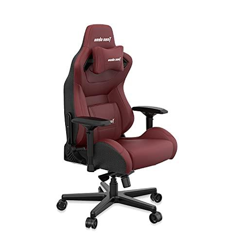 Anda Seat Kaiser Serie Pro Stuhl Schwarz & Kastanienbraun-Premium Büro Lendenwirbelstütze Schreibtischstuhl-Ergonomische Rückenlehne, Sitz & Arm Höhenverstellung Gaming Sitz, Leder, kastanienbraun, xl
