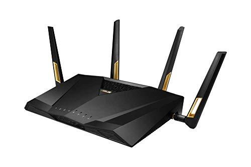 Asus RT-AX88U Gaming Router (Ai Mesh WLAN System, WiFi 6 AX6000, Gaming Engine, 8x Gigabit LAN Link Aggregation, 1.8 GHz QC CPU, AiProtection, USB 3.0) (Router bis zu 220 m²)