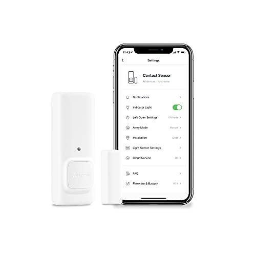 SwitchBot Kontaktsensor und Türalarm, drahtloser Smart-Home-Sicherheitssensor für Türen und Fenster, fügen Sie den SwitchBob Hub Mini hinzu, kompatibel mit Alexa