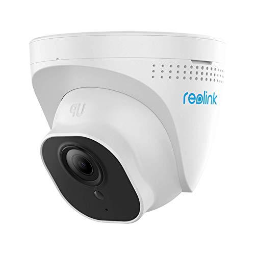 Reolink 5MP PoE Überwachungskamera Aussen, IP Kamera Dome mit Audio und Micro SD Kartensteckplatz, 30m IR Nachtsicht, IP66 Wasserfest, Bewegungserkennung, Fernzugriff für Innen, Außen, RLC-520-5MP