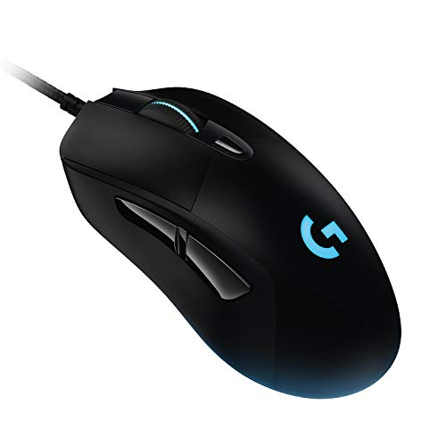Logitech G403 HERO 16K Gaming-Maus (LightSync RGB, geringes Gewicht von 87 g und optionales 10-g-Gewicht, geflochtenes Kabel, 16.000 DPI, Deutsche Verpackung, Osteuropa)