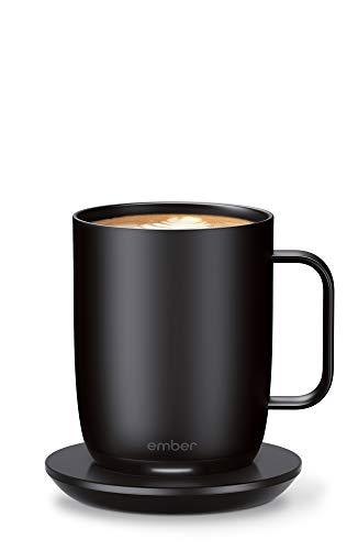 NEUES Smarter Ember Cup 2 mit Temperaturregelung, 414 ml, schwarz, 80 Minuten Akkulaufzeit - App-gesteuerte, beheizte Kaffeetasse - verbessertes Design